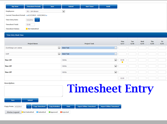 adfree officetimer online web timesheet and time tracking solution